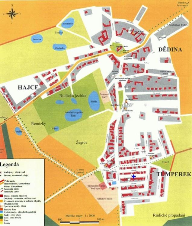 Mapa Rudice
